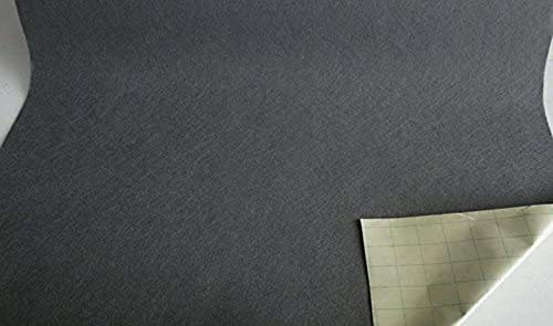 Stoffbook GRAU DEKOFILZ BASTELN SELBSTKLEBEND DIY 100X20CM FILZSTOFF KLEBEFILZ, B791 (grau)
