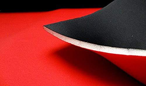 StoffBook SCHWARZ/ROT NEOPREN-IMITAT STOFF 10MM STRETCH DOUBLEFACE STOFFE, C205