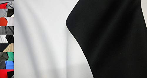 StoffBook SCHWARZ/WEIß NEOPREN-IMITAT Stoff Stretch Doubleface 1-1,5MM Stoffe, B896