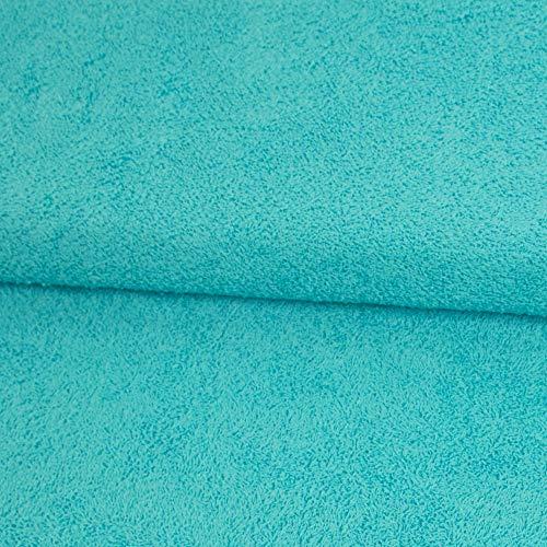 Stoffe Werning Frottee Uni einfarbig türkis Bademantelstoff Handtücher Badetücher - Preis Gilt für 0,5 Meter