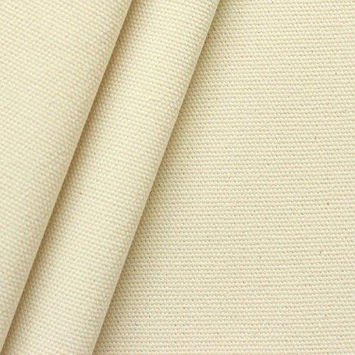 STOFFKONTOR 100% Baumwolle Canvas Stoff Segeltuch Meterware Roh-Weiss Natur