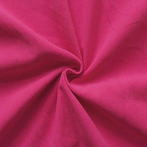 STOFFKONTOR 100% Baumwolle Feincord Babycord Stoff Meterware Pink