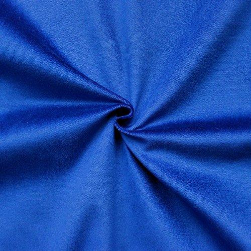 STOFFKONTOR Bühnensamt Samt Stoff B1 schwer entflammbar - Meterware, royal-blau - zum Nähen von Vorhängen und Dekorationen