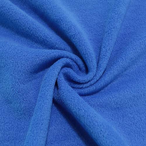 STOFFKONTOR Polar Fleece Stoff Meterware, Fleecestoff zum Nähen mit Antipilling Eigenschaften - Royal-Blau