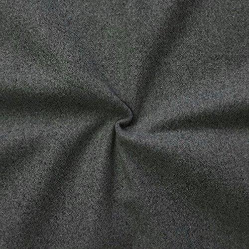 STOFFKONTOR Wollstoff Winter Basic Stoff Meterware Dunkel-Grau