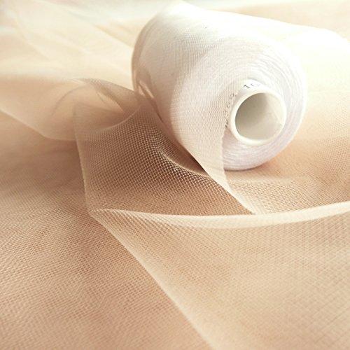 Super Fine Soft Nude Haut Flesh Farbige Illusion Tüll Stoff 150cm breit–sehr fein Mesh–Meterware–Abschlussball, Unterrock, Schleier