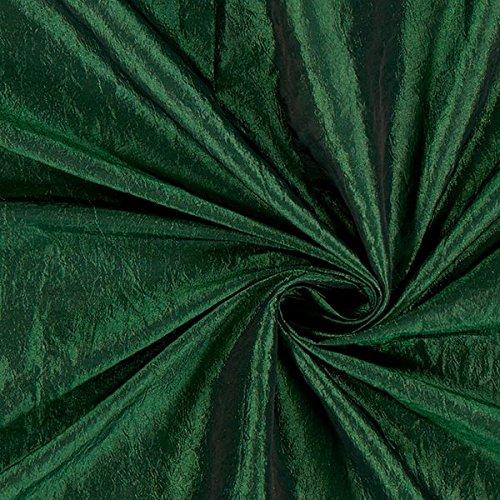 Taftstoff Crash – grün — Meterware ab 0,5m — zum Nähen von Abend- und Partymode