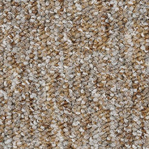 Teppichboden Auslegware Meterware Schlinge meliert beige grau 200, 300, 400 und 500 cm breit, verschiedene Längen