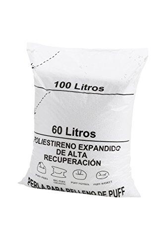 Textil-home Puff füllung (perlen) 100 Liters -Polystyren große Erholungand und große Volume.