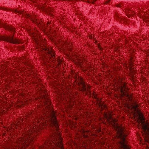 TOLKO 10m Pannesamt als Meterware Edel glänzender Stretch Samt-Stoff zum Nähen Dekorieren | 145cm breit Kleidungsstoff Dekostoff Modestoff Nähstoff für Vorhänge Gardinen Bühne Verdunkelung (Dunkel-Rot)