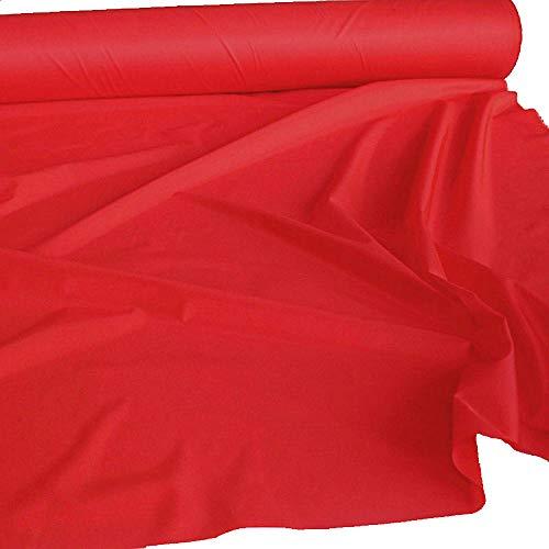 TOLKO 1m Futterstoff | Futter-Taft als Dekostoff universal Stoff zum Nähen Dekorieren | Blickdicht knitterarm | 150cm breit Modestoff Hochzeitsstoff Kleiderstoff Kostümstoff Meterware (Rot)