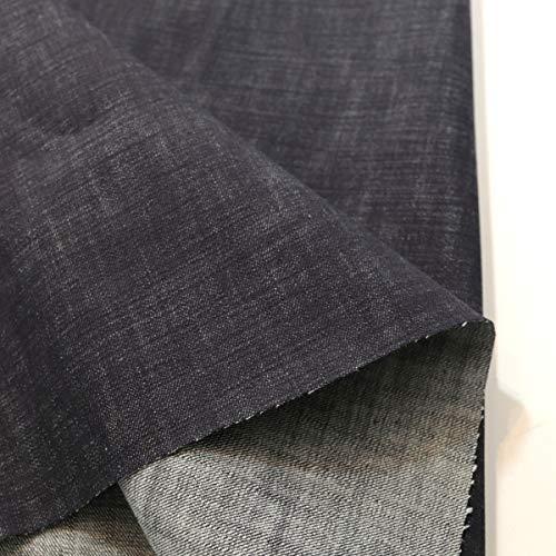 TOLKO Baumwollstoffe Sommer Jeans Stoff | weicher Bekleidungsstoff für Hose Jacke Rock aus 100% Baumwolle | Meterware 142cm breit (Denim Blau)