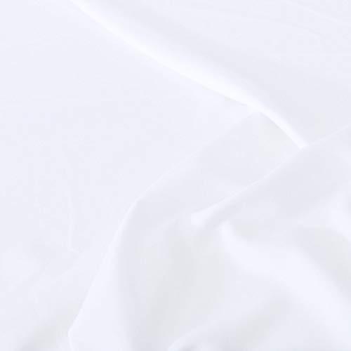 TOLKO Modestoff | Dekostoff universal Stoff zum Nähen Dekorieren | Blickdicht, knitterarm | 150cm breit Meterware Bekleidungsstoffe Dekostoffe Vorhangstoffe Baumwollstoffe Basteln Patchwork (Weiß)