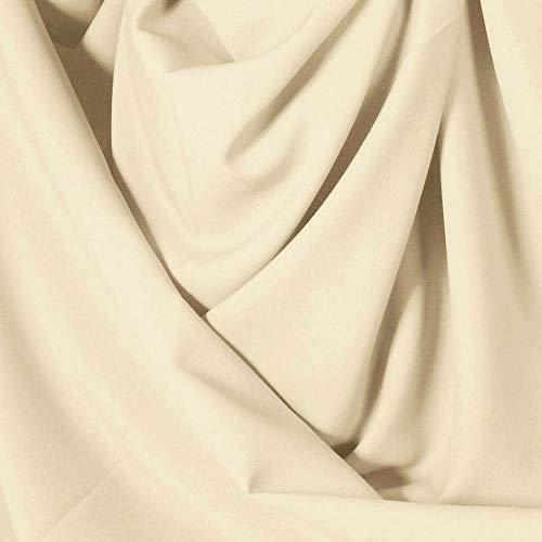 TOLKO Modestoff   Dekostoff universal Stoff zum Nähen Dekorieren   Blickdicht, knitterarm   150cm breit Meterware Bekleidungsstoffe Dekostoffe Vorhangstoffe Baumwollstoffe Basteln Patchwork (Beige)