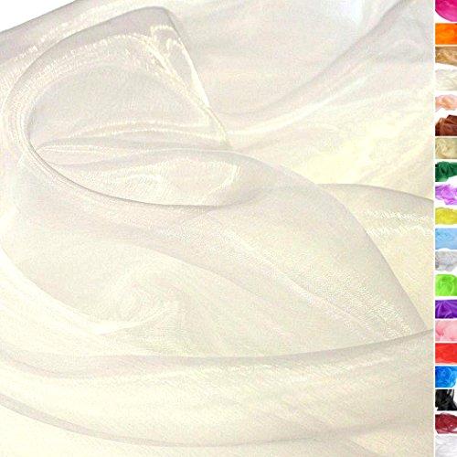 tolko organza stoff als dekostoff meterware zweifarbig hauch zart fein und