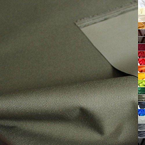 TOLKO Outdoor Stoff - Nylon Planenstoff als Meterware, Wasserdicht, Extra Schwer, Reißfest und Langlebig (Oliv)
