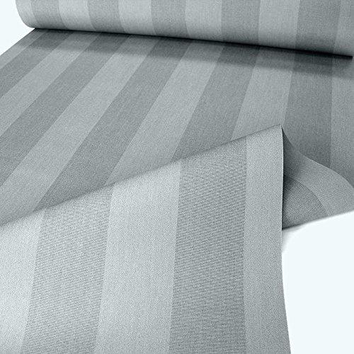 TOLKO Sonnenschutz Markisen-Stoffe als Meterware für Terrassen-Überdachung und Beschattung   mit UV-Schutz 50+   Wasserdicht, Extra Langlebig - Ohne Ausbleichen - 120cm breit (Grau Gestreift)