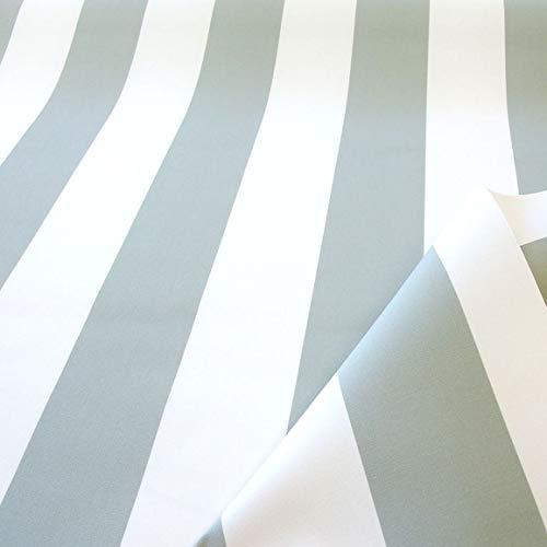 TOLKO Sonnenschutz Markisen-Stoffe als Meterware Zum Nähen mit UV-Schutz 50+ | Wasserdicht, Extra Langlebig - Ohne Ausbleichen (Grau Weiß)
