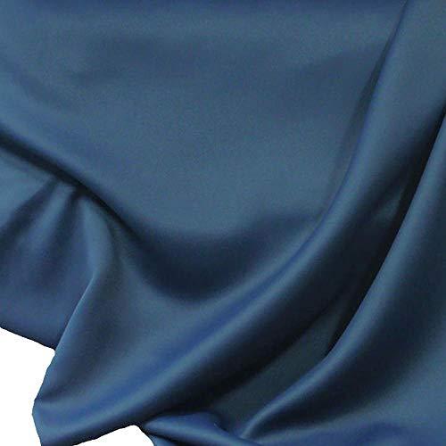 TOLKO Sonnenschutz Verdunkelungsstoff Meterware - edler Vorhangstoff in 18 Farben (Dunkel-Blau)