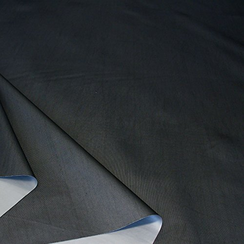 TOLKO Sonnenschutz Verdunkelungsstoff Meterware in 6 Farben | 100% Lichtdicht, Thermo-Beschichtung | als Fensterfolie, Verdunkelungsvorhang/Gardine, Verdunklungsrollo (Schwarz)