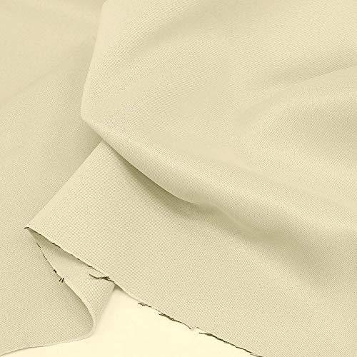 TOLKO Verdunklungsstoff lichtundurchlässig   edler Vorhangstoff für Verdunklungsvorhänge Gardinen Sonnenschutz Lichtschutz Sichtschutz Verdunkelung Meterware zum Nähen/Dekorieren (Creme)