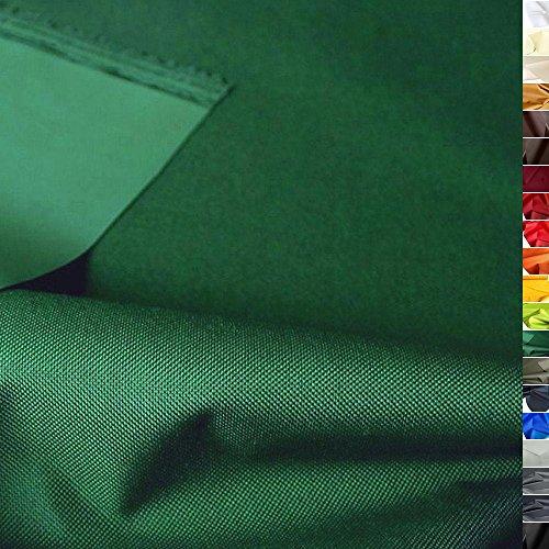 TOLKO wasserfester beschichteter Nylon Stoff | fester Segeltuch Planenstoff als Nylonplane für Aussenbereich | Reißfest und Langlebig | Meterware 150cm breit schwerer Outdoorstoff (Dunkel-Grün)