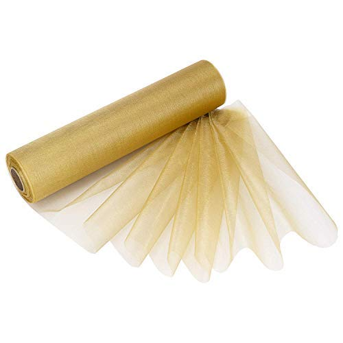 Trimming Shop Organza Rolle - Gold, 29CM