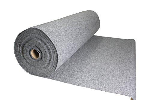 Tukan-tex (11,8€/m) Filz Grau Filzstoff 50x150cm Meterware 3,0mm Stark- Soft