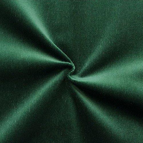Unbekannt Bühnen Samt Stoff B1 schwer entflammbar Meterware Dunkel-Grün