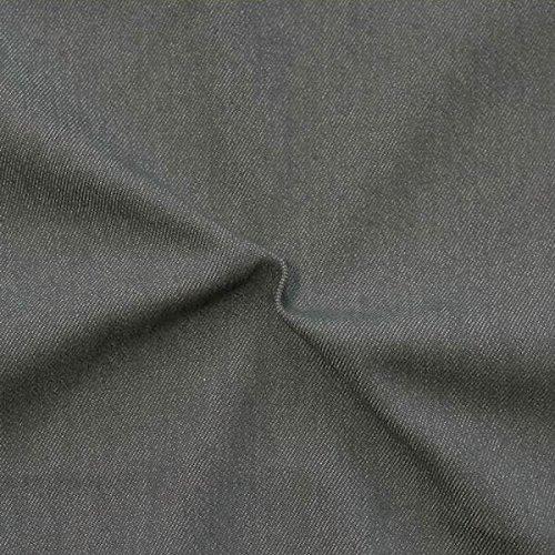 Unbekannt Stretch Denim Jeans Stoff Meterware Dunkel-Grau