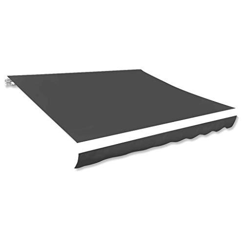 vidaXL Markisenstoff Sonnenschutz Markisentuch Anthrazit 350×250 cm Segeltuch