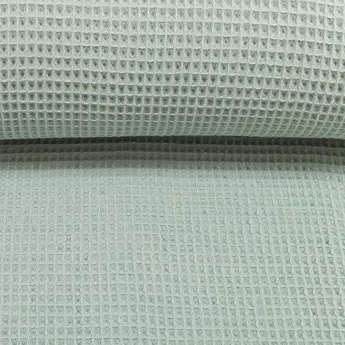 Waffelpique-Waffeldstoff-0,5m-Nelson-von-Swafing-350g-lfm-Öko-Tex-Meterware (Mint)
